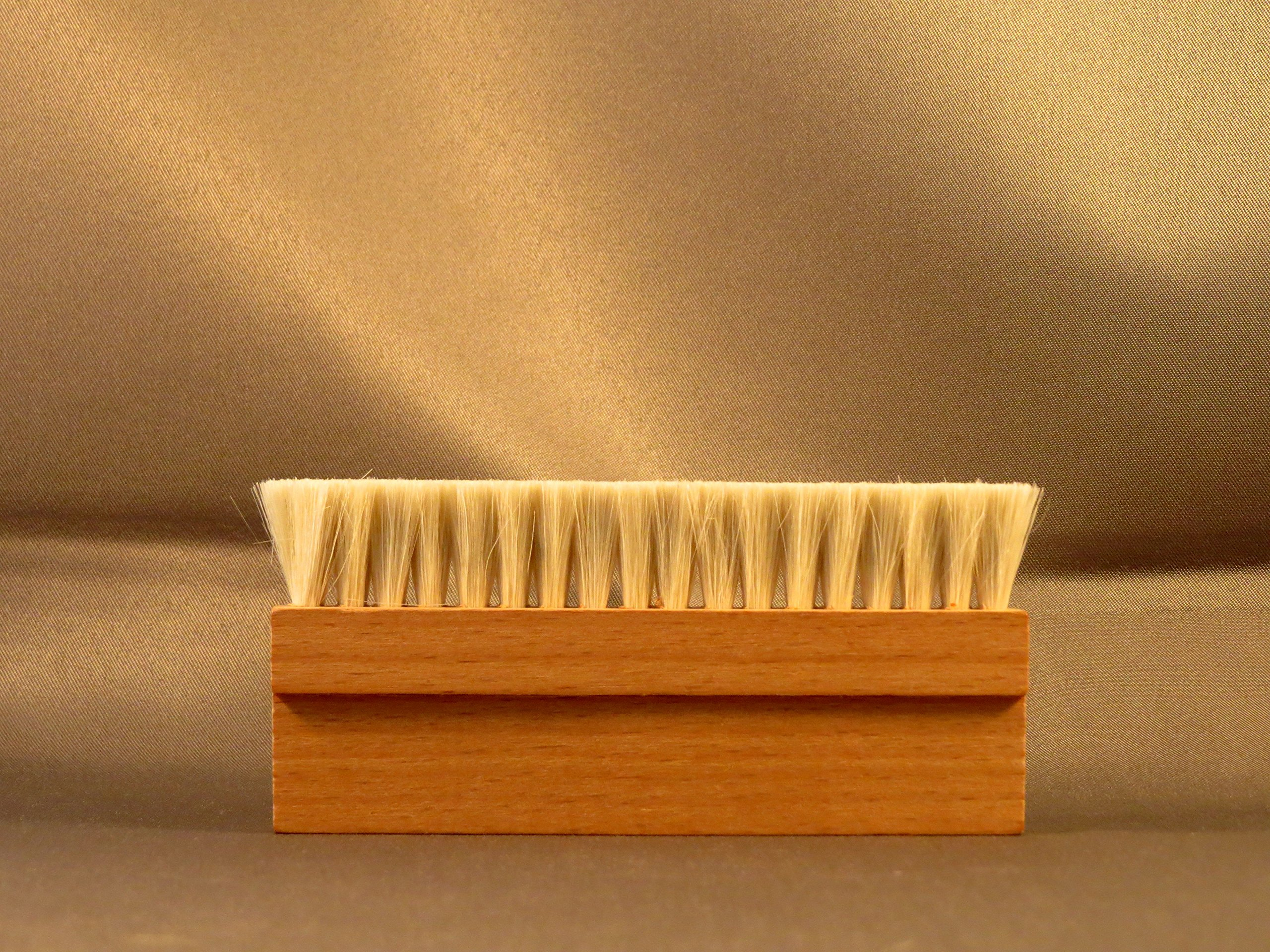 Wooden Goat Hair Anti Static Record Cleaning Brush Cleaner by Purest Audio