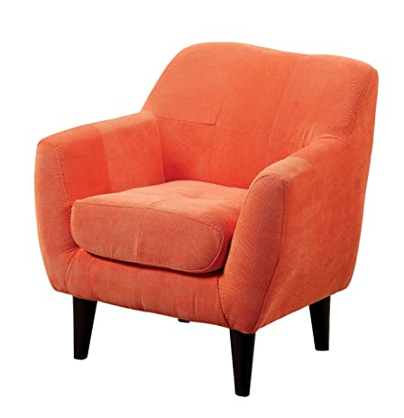 Furniture Of America Cass Scoop Frame Youth Chair Contemporary Style    Orange