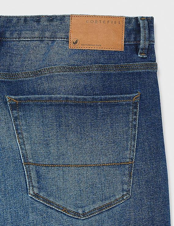 Cortefiel Denim Dark Regular Pantalones para Hombre