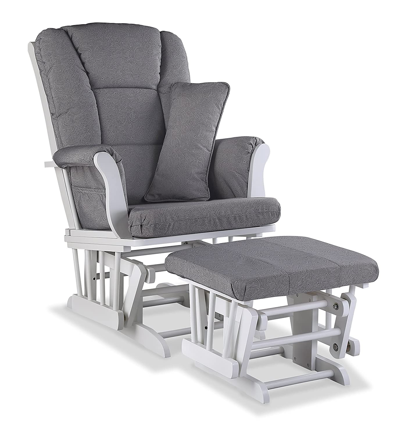 relax baby x and kelcie swivel glider photo gray set ottoman of