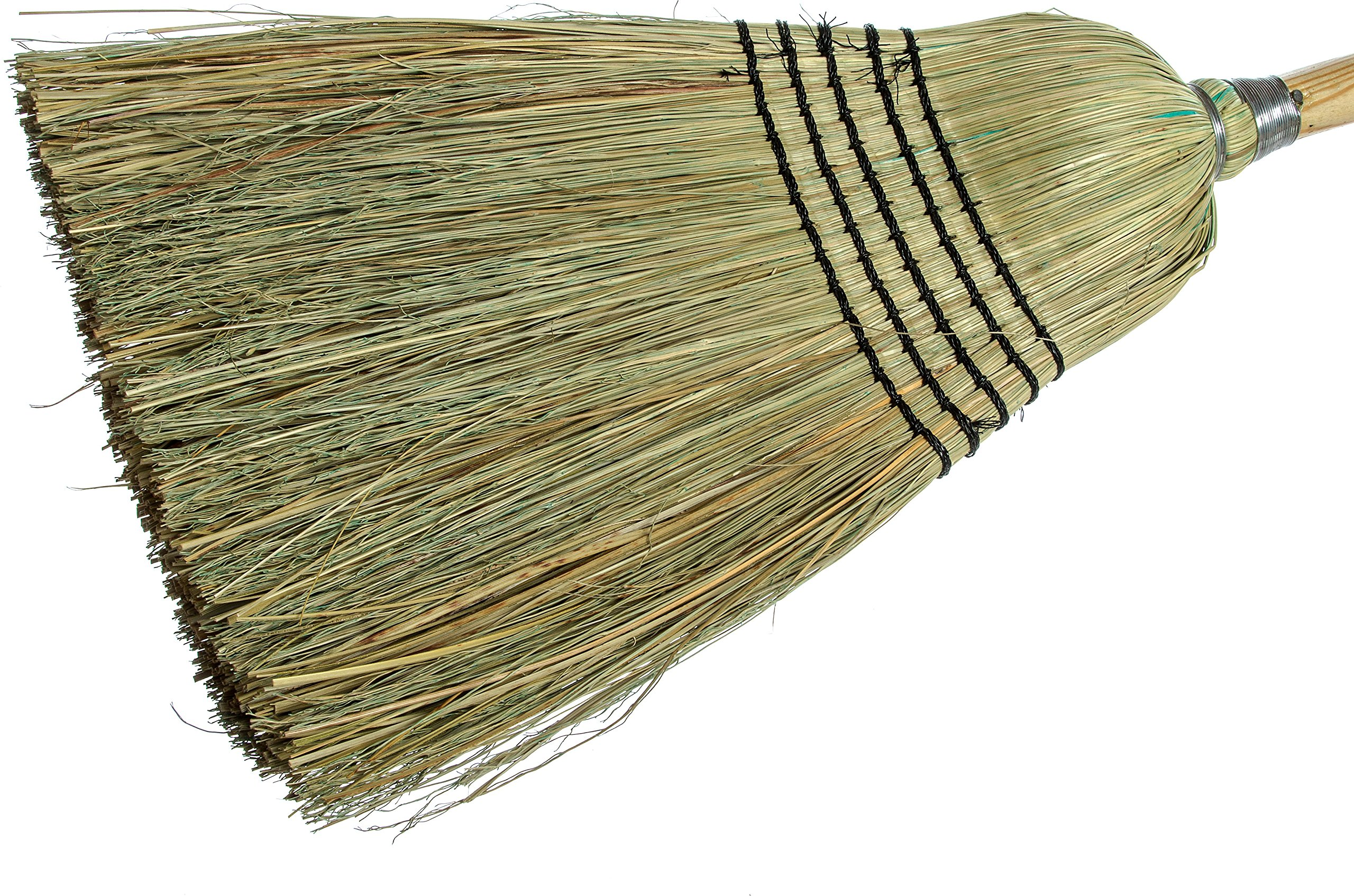 Carlisle 4135067 Commercial Corn Broom with Solid Wood Handle, 12'' Wide (Case of 12) by Carlisle (Image #2)