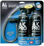 A/C PRO ACP-110 R134a Recharge & Retrofit Kit-(Pack of 2-15 oz Cans)