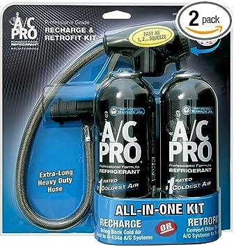 ac pro. a/c pro acp-110 r134a recharge \u0026 retrofit kit-(pack of ac pro z