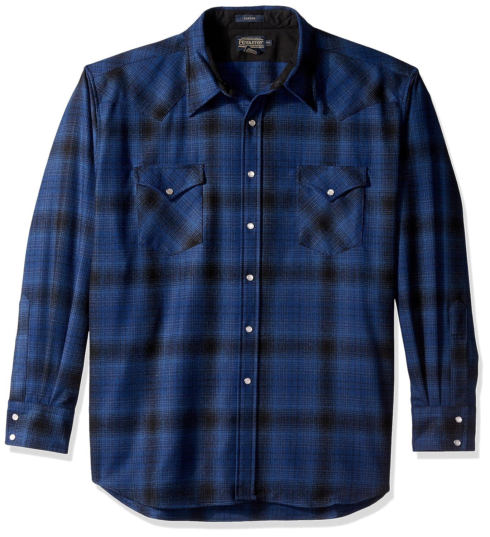 Pendleton メンズ長袖キャニオンシャツ B06XFD2RTS M|Blue/Black Ombre Blue/Black Ombre M