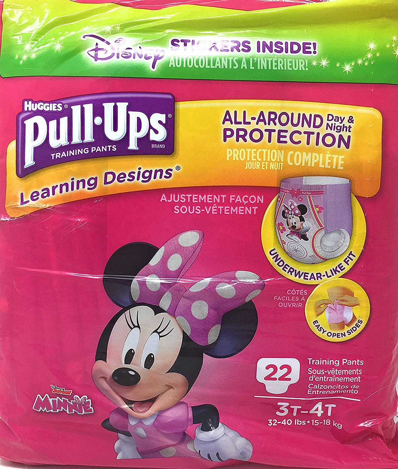 Pull-Ups Learning Designs Training Pants for Girls, 3T-4T, 22 count Kimberly-Clark 4332391477