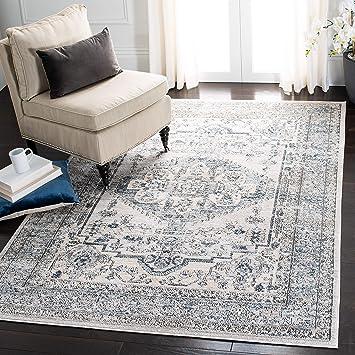 Amazon Com Safavieh Martha Stewart Collection Msr877m Dakota Area Rug 8 X 10 Light Blue Ivory Furniture Decor