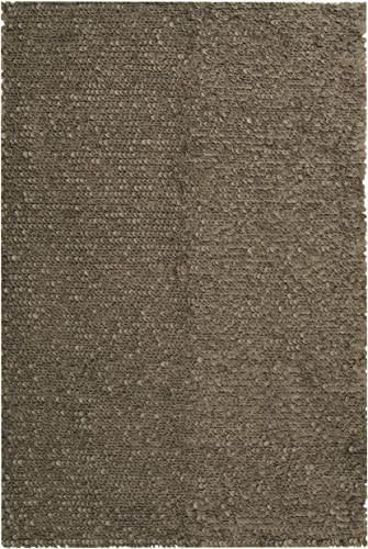 Safavieh Manhattan Collection MAN415B Hand Woven Grey Wool Area Rug 8' x 10'