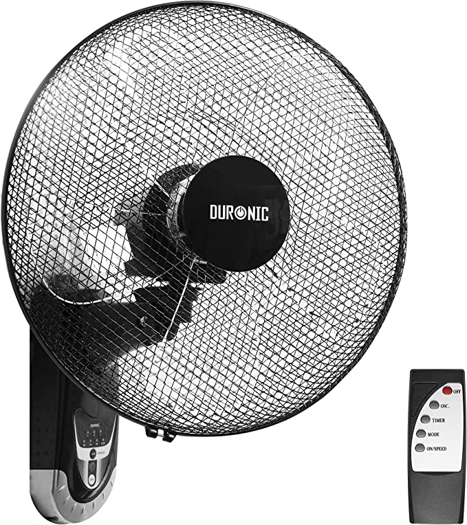 Duronic FN55 Ventilador de Pared 5 Aspas - Hélice de 40 cm - 60W de Potencia - Oscilante - 3 Velocidades - Mando a Distancia – Temporizador: Amazon.es: Hogar