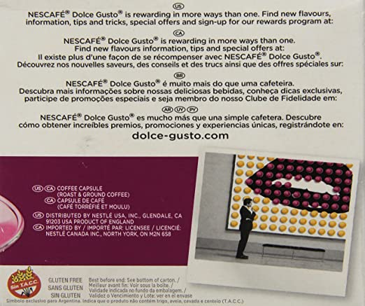 Amazon.com : Nescafe Dolce Gusto for Nescafe Dolce Gusto Brewers, Espresso, 16 Count : Coffee Brewing Machine Capsules : Grocery & Gourmet Food