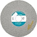 Scotch-Brite(TM) EXL Deburring Wheel, Silicon Carbide, 6000 rpm, 6 Diameter x 1 Width, 1 Arbor, 8S Medium Grit (Pack of 1)