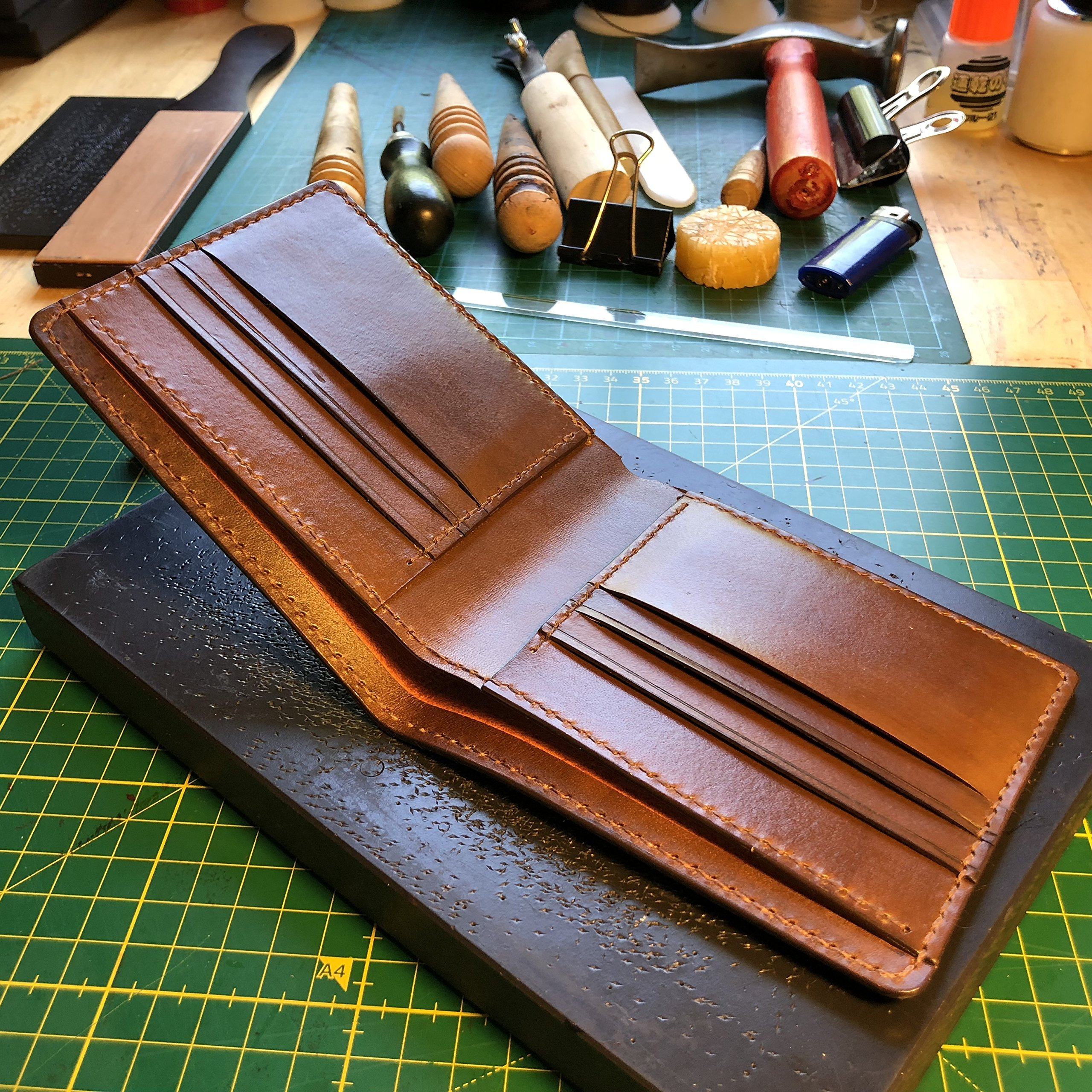 Bifold wallet for men / Short wallet