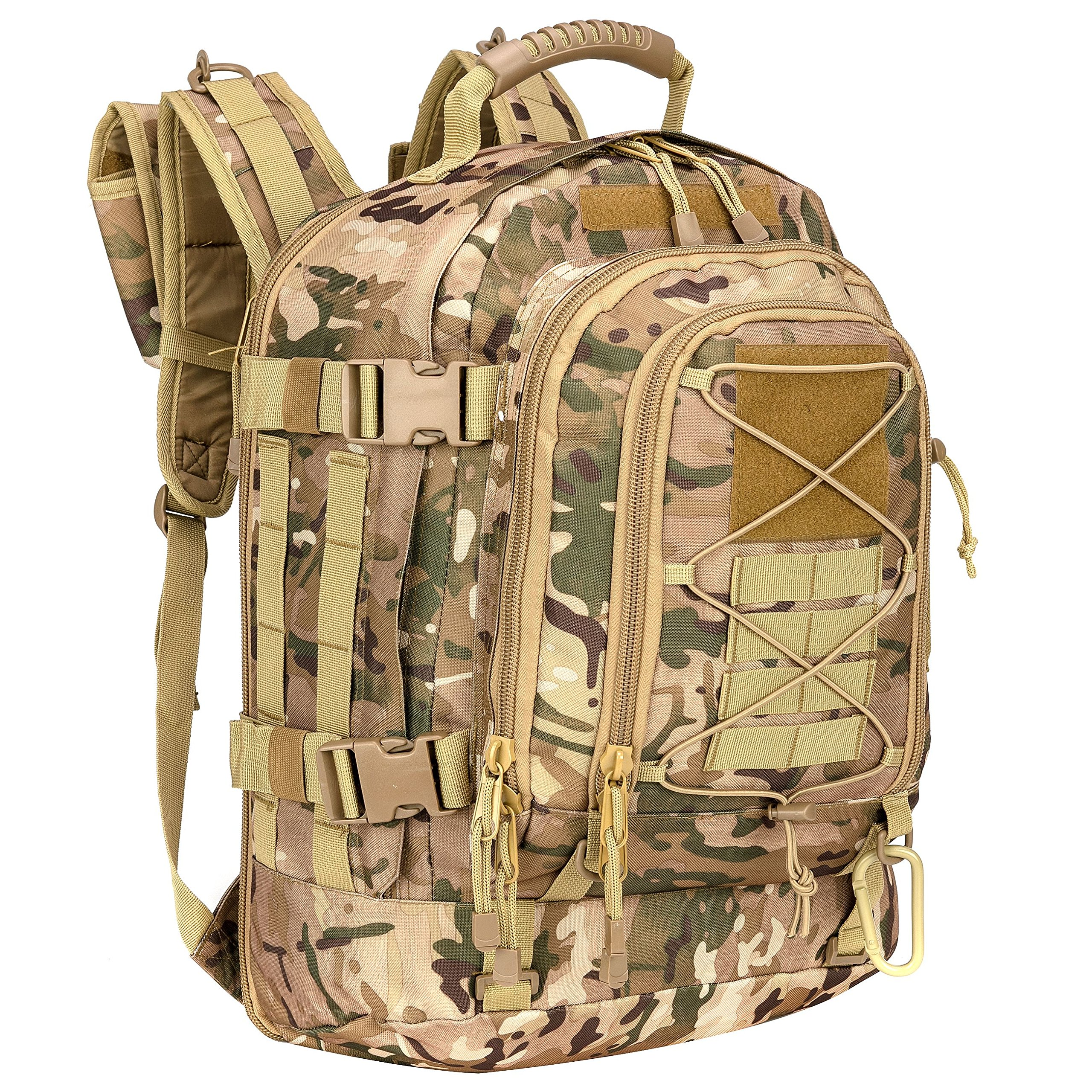 WolfWarriorX Military Tactical Assault Backpack Hiking Bag Extreme Water Resistant 3- Day Rucksack Molle Bug Out Bag for Traveling, Camping, Trekking & Hiking