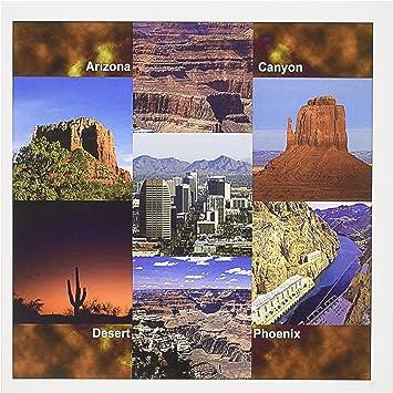 Amazon Com 3drose Set Of 12 Greeting Cards Arizona Landscape Collage Gc 21723 2 Office Products