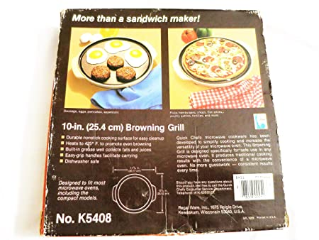 Regal Quick Chef - Microondas grill de tostado: Amazon.es: Hogar