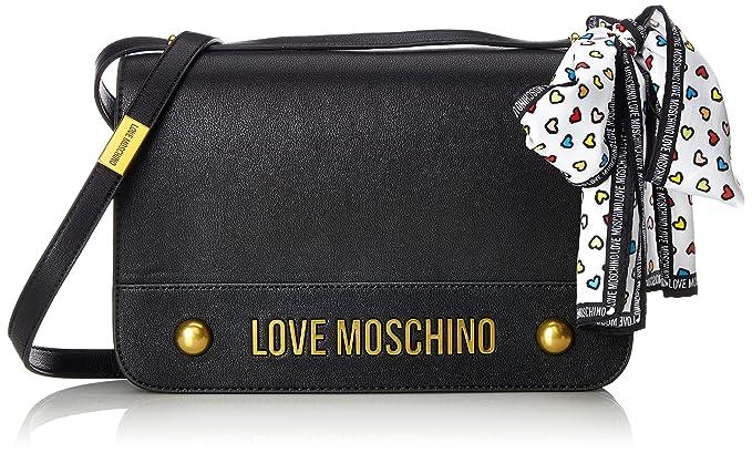 Love Moschino Nappa Grain Pu Nero, Women s Shoulder Bag, Black, 6x19x28 cm ( dce84ef866