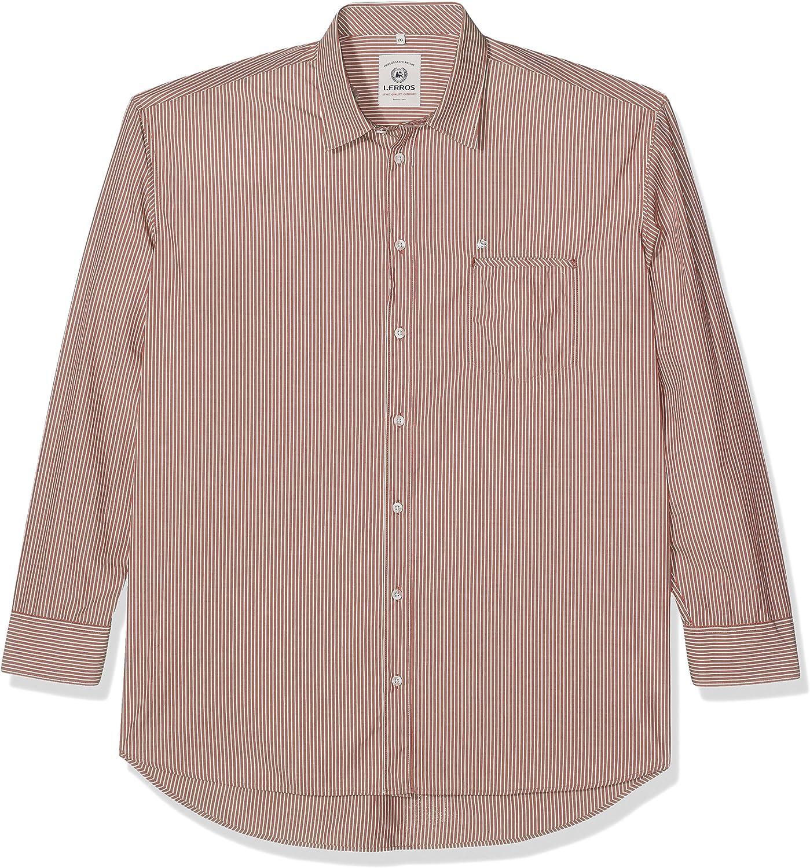 LERROS Herren Hemd Große Größen Camisa Casual para Hombre: Amazon.es: Ropa y accesorios