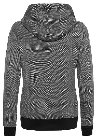 Sublevel Damen Kapuzenpullover   Sweatshirt   Leichter Hoodie im  einzigartigem Melange Look Black XS  Amazon.de  Bekleidung 3007132842
