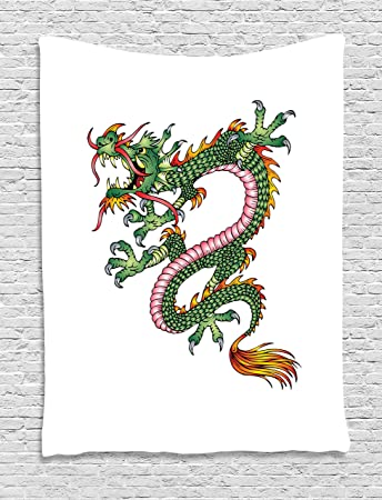 Amazon Japanese Dragon Tapestry By Ambesonne Dangerous Fantasy