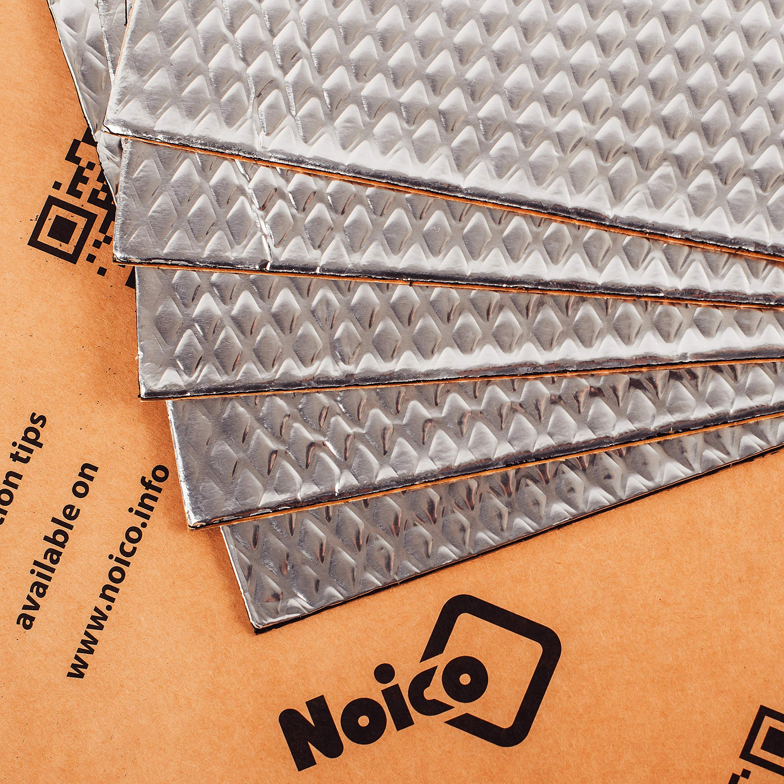 Noico 80 mil 5 sqft Car Sound Deadening Mat, Butyl Automotive Sound Deadener, Audio Noise Insulation and Dampening by Noico Solutions