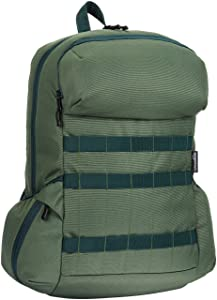 AmazonBasics Canvas Backpack for Laptops up to 15-Inches - Forest Green