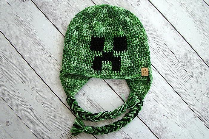 Amazon Minecraft Creeper Hat Handmade