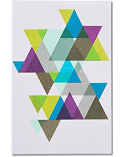 Amazon american greetings forget me not floral pansies american greetings triangles blank geometric thinking of you cards with foil 6 count m4hsunfo
