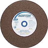 "Norton Bench and Pedestal Abrasive Wheel, Type 01 Straight, Aluminum Oxide, 1"" Arbor, 8"" Diameter, 1"" Thickness, Medium Grit"