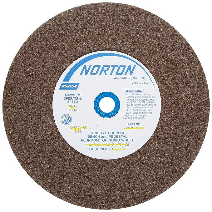 """Tru-Maxx 80 Grit Aluminum Oxide Bench /& Pedestal Grinding Wheel 10/"""" Diam x 1-..."""