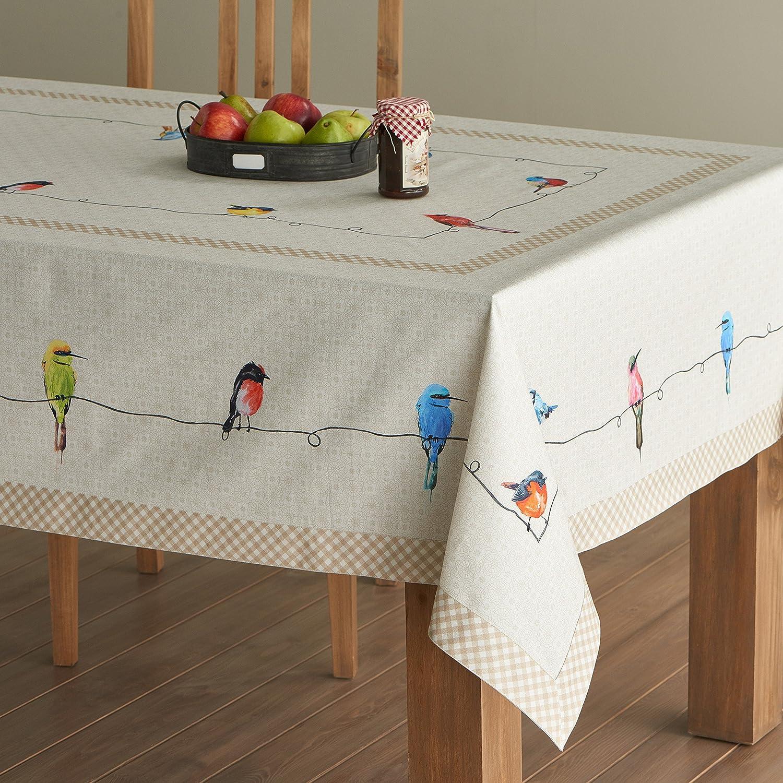 Elegant Amazon.com: Maison Du0027 Hermine Birdies On Wire 100% Cotton Tablecloth 60    Inch By 108   Inch.: Home U0026 Kitchen