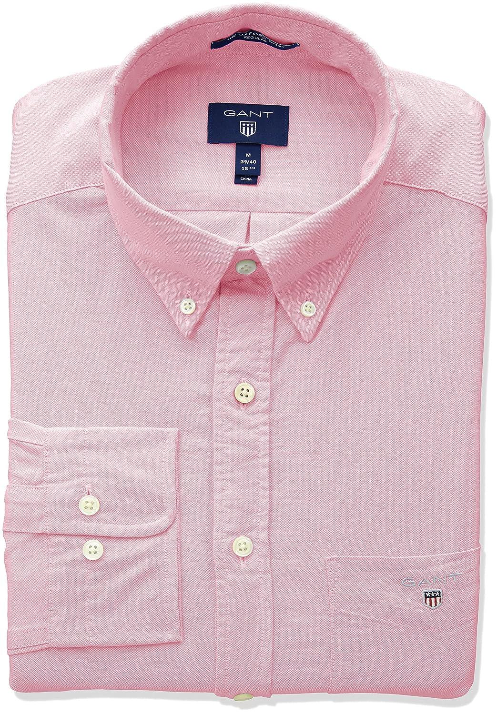 Rouge (lumière rose 662) XL Gant The Oxford Shirt Reg BD Chemise Décontracté Homme