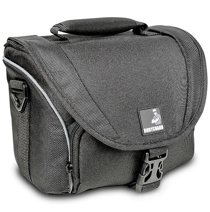 Bolsa para cámara fotográfica y 2 Objetivos Bodyguard SLR M para Nikon D800 D3200 D3300 D5100 D5200 D5300 D5500 D7000 D7100 D7200 Canon EOS 1200D ...