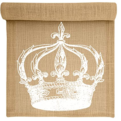 Miraculous Amazon Com Crown Burlap Table Runner By Thewatsonshop 72 Download Free Architecture Designs Remcamadebymaigaardcom