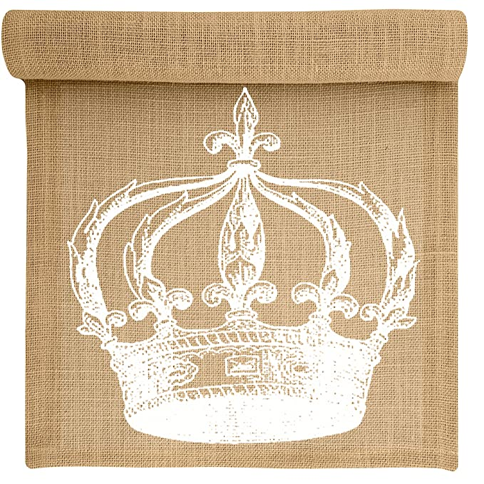 Prime Amazon Com Crown Burlap Table Runner By Thewatsonshop 72 Download Free Architecture Designs Remcamadebymaigaardcom