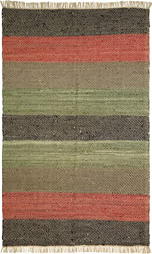 Striped Leather Matador 8 x10 Rug