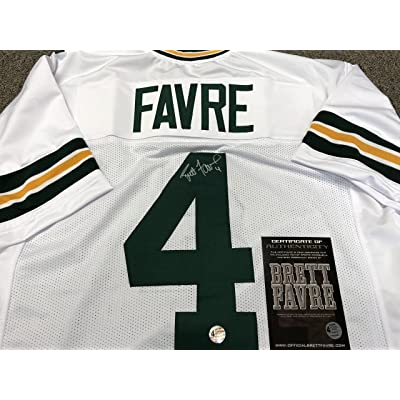best service 07eee 43012 Brett Favre Autographed Signed Green Bay Packers Custom ...