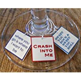 FortySevenGems Set of 6 Dave Matthews Band Song Lyrics Collection Wine Charms