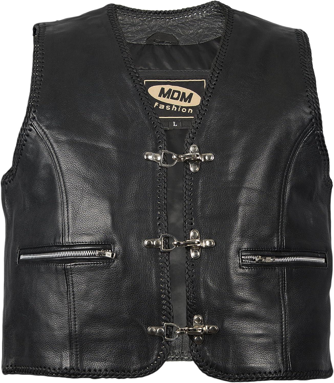 MDM Boucle de connexion pour Biker Gilet Vintage Marron//Noir
