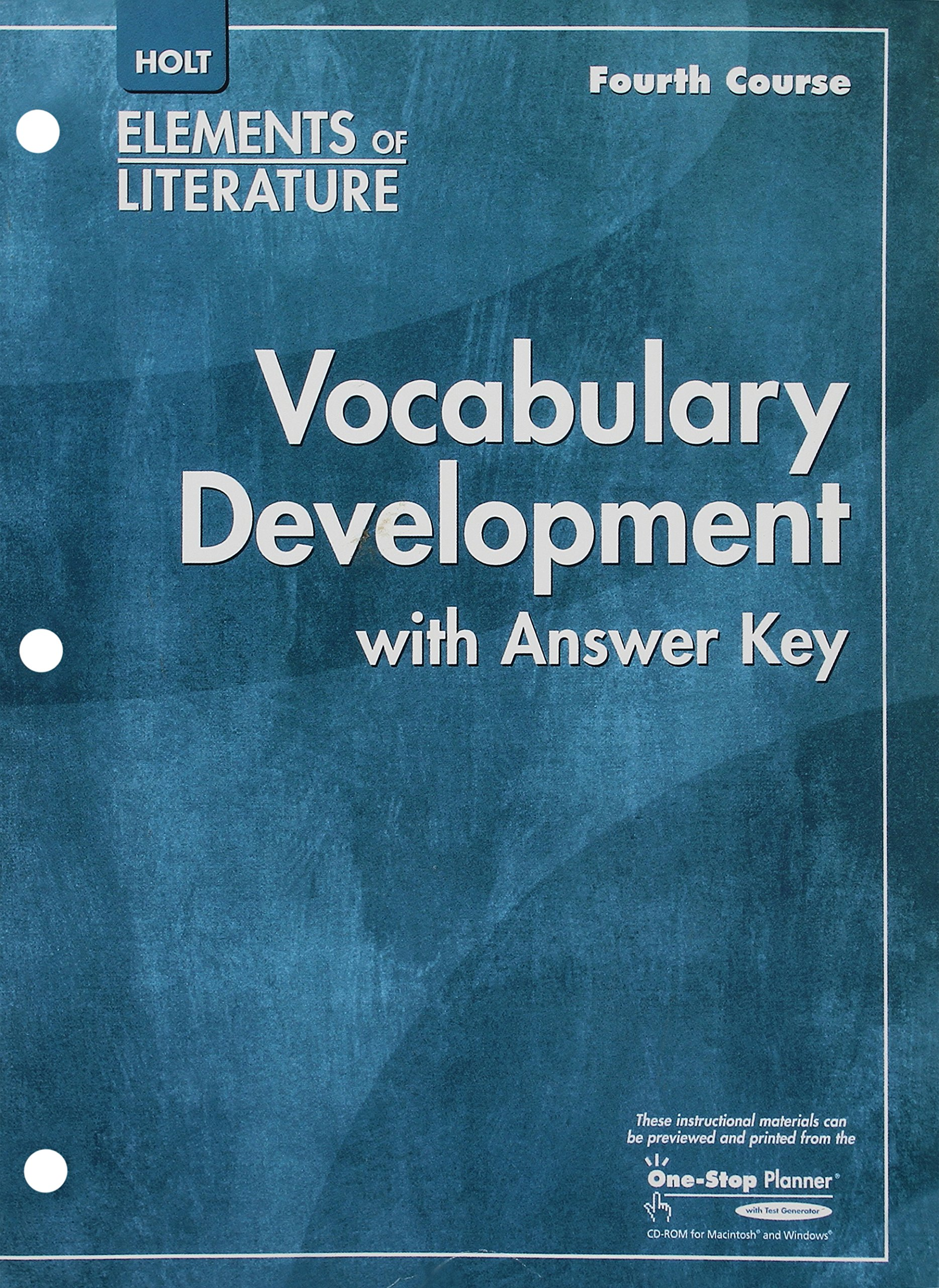 Buy Elements of Literature, Grade 10 Vocabulary Development Fourth ...