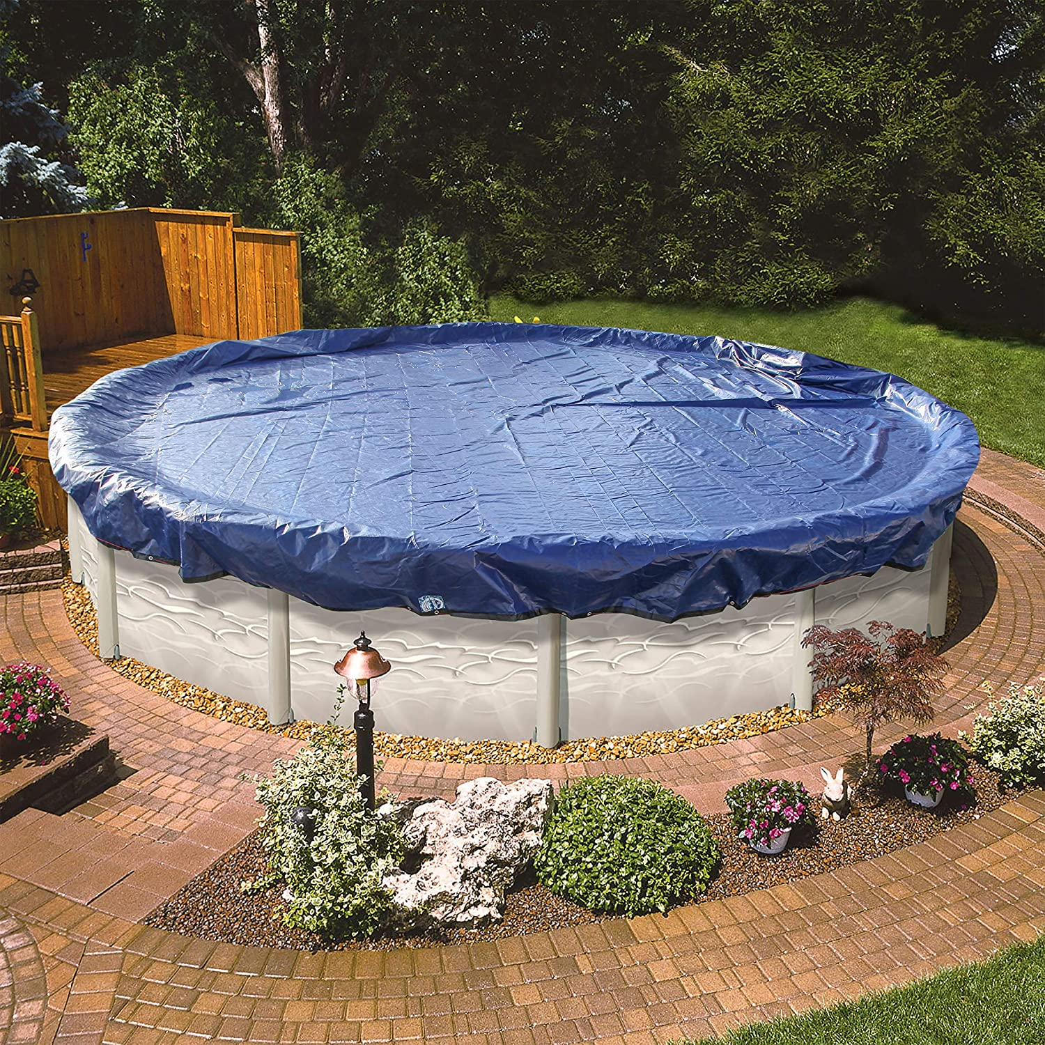 24 Foot Round Pool Cover for Above Ground Pools. The Strongest 24\' Winter  Pool Covers for Above Ground Pools to Winterize Your Swimming Pool. Extra  ...