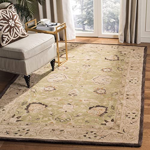 Safavieh Anatolia Collection AN512C Handmade Traditional Oriental Sage and Beige Premium Wool Area Rug 9' x 12'