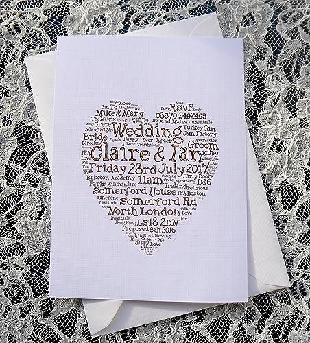 amazon com wedding invitations personalized bespoke wedding word