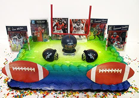 Amazon Com Denver Broncos Team Themed Birthday Cake Topper Set