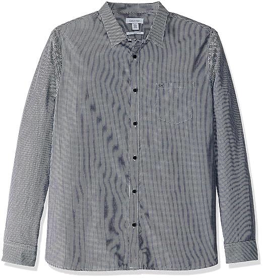 8dae74cb175 Calvin Klein Men s Extra Fine Cotton Button Down Shirt at Amazon ...
