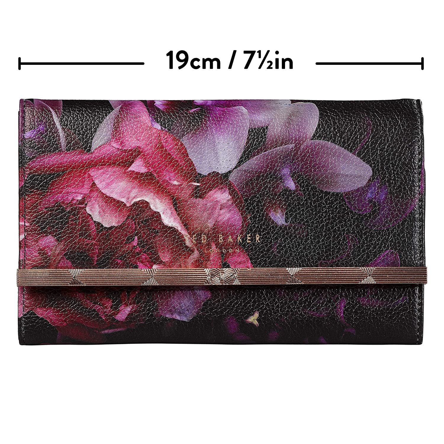 e0ce4a231 Amazon.com  Ted Baker Travel and Storage Jewelry Roll with Detachable  Zipper Pouch Splendor Floral Black Faux Leather Multi  Home   Kitchen
