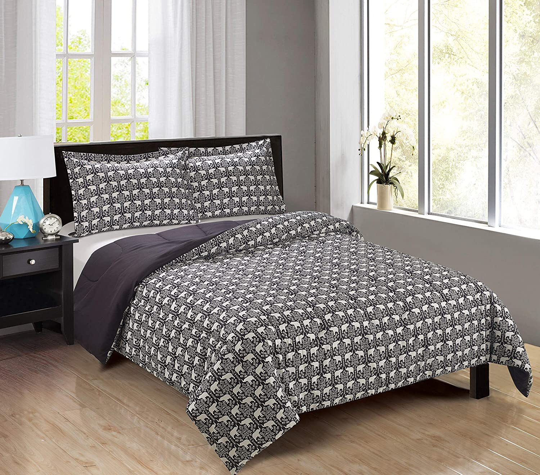 Black Plaid, Double\Queen Swift Home Kids Bedding Super Soft Microfiber Mini Comforter
