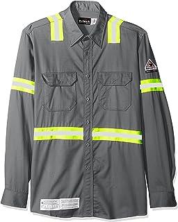 6e9975eb965 Amazon.com  Bulwark Men s Hi-vis Color Block Uniform Shirt-Excel Fr ...