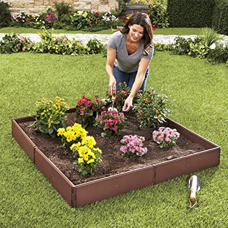 Amazon Com The Lakeside Collection Raised Garden Bed Set For Vegetable And Flower Gardening Garden Outdoor