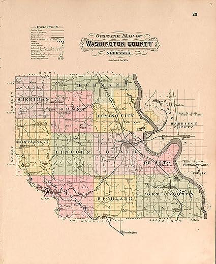 Amazoncom Vintage 1908 Map Of Plat Book Of Washington County - Us-map-1908