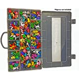 Ash Action Figures Case Organizer with Ebook Brand  Stop Looking! GET The Ultimate Beautiful Plastic Toy Box Storage Bin fits up to 144 Anime Figure-Toys NOT Included