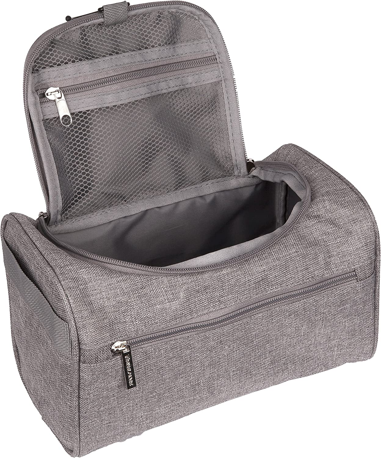 TravelMore Hanging Travel Toiletry Bag Organizer Medicine Bag – Bathroom Hygiene Dopp Kit with Hook for Traveling Accessories Toiletries Bathroom Shaving Makeup for Men and Woman – Gray